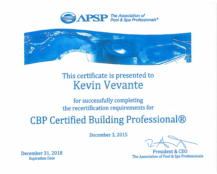 CBP Certified Aquacade Pools